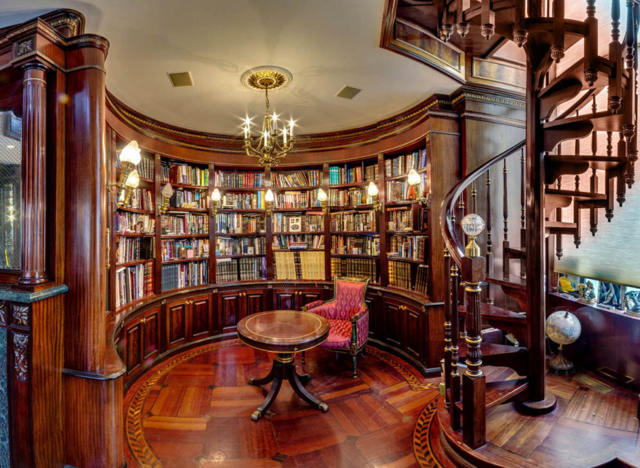 Circular Classic Home LIbrary 900x659 These 38 Home Libraries Will Have You Feeling Just Like Belle