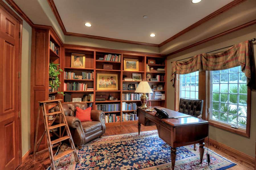 View In Gallery Classic Home Office And Library