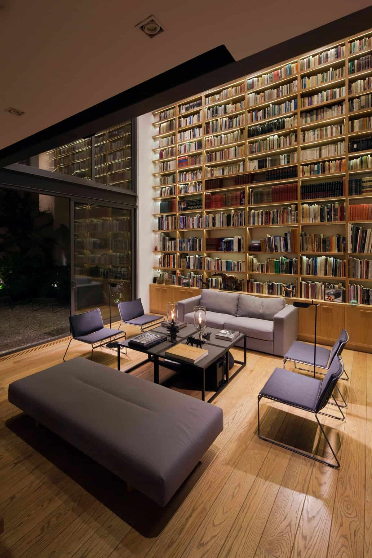 Cool, Casual Home Library