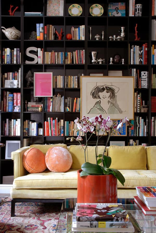 Feminine and Modern Home Library