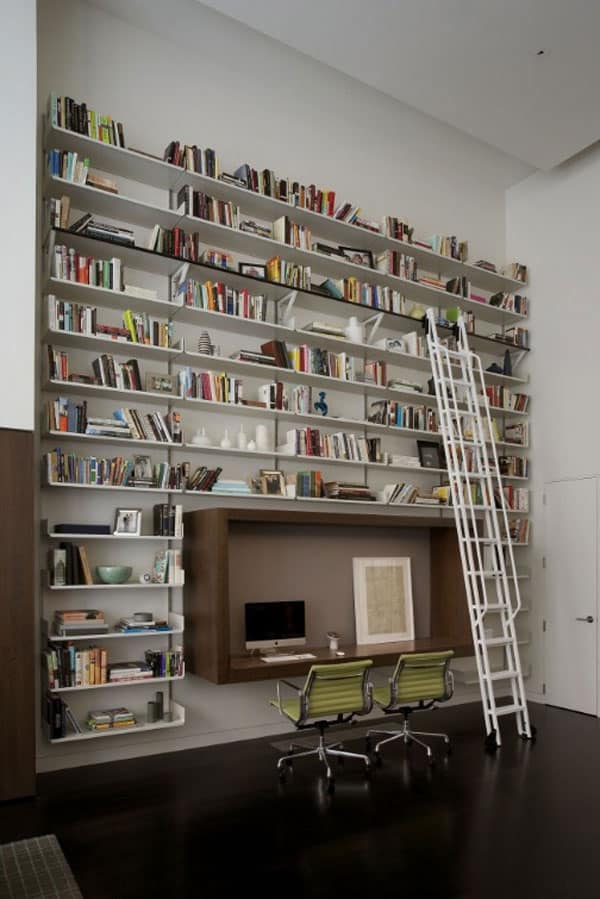 Funky Home Library Design