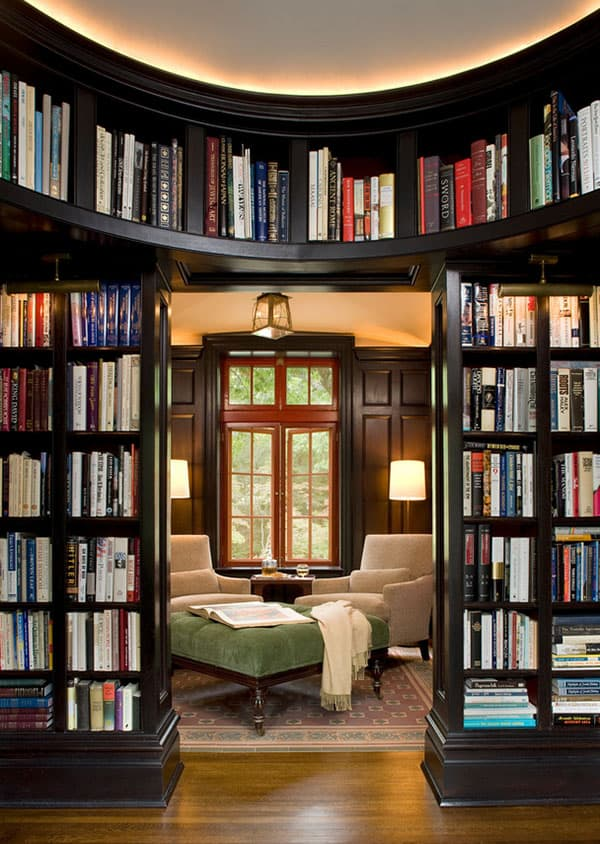 View In Gallery Home Library Design Idea