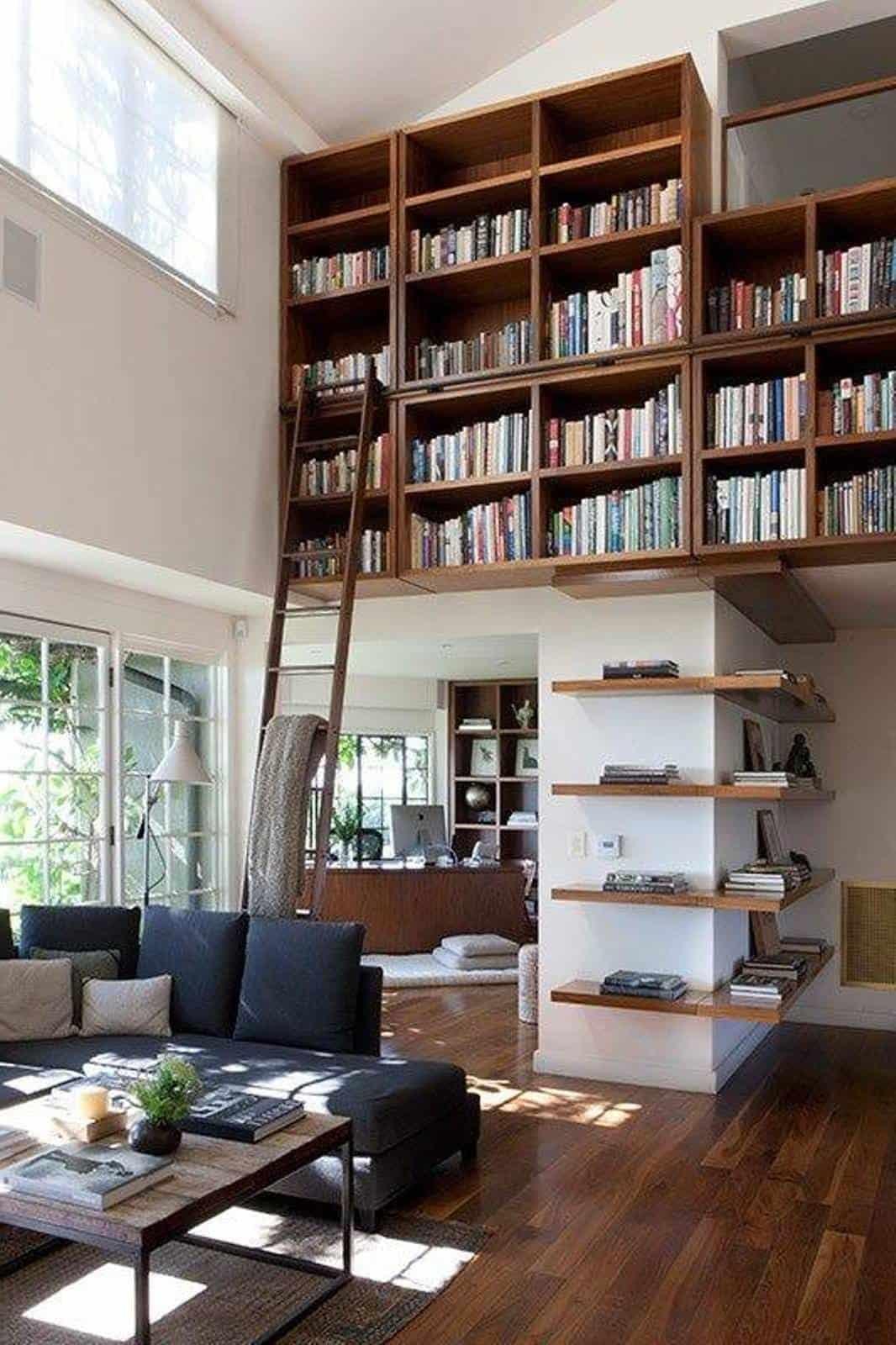 Home Library Unique Design