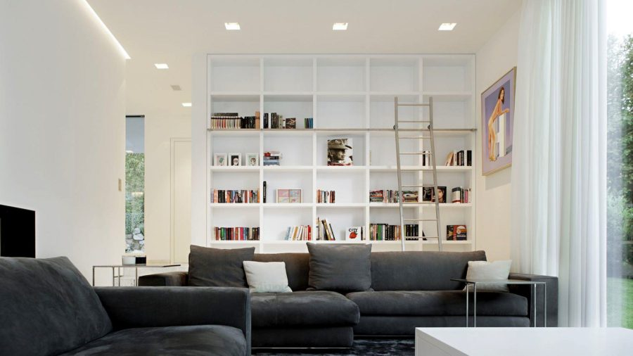 Modern Clean Home Library