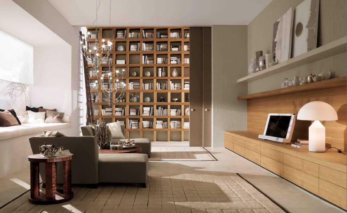 Neutral Home Library