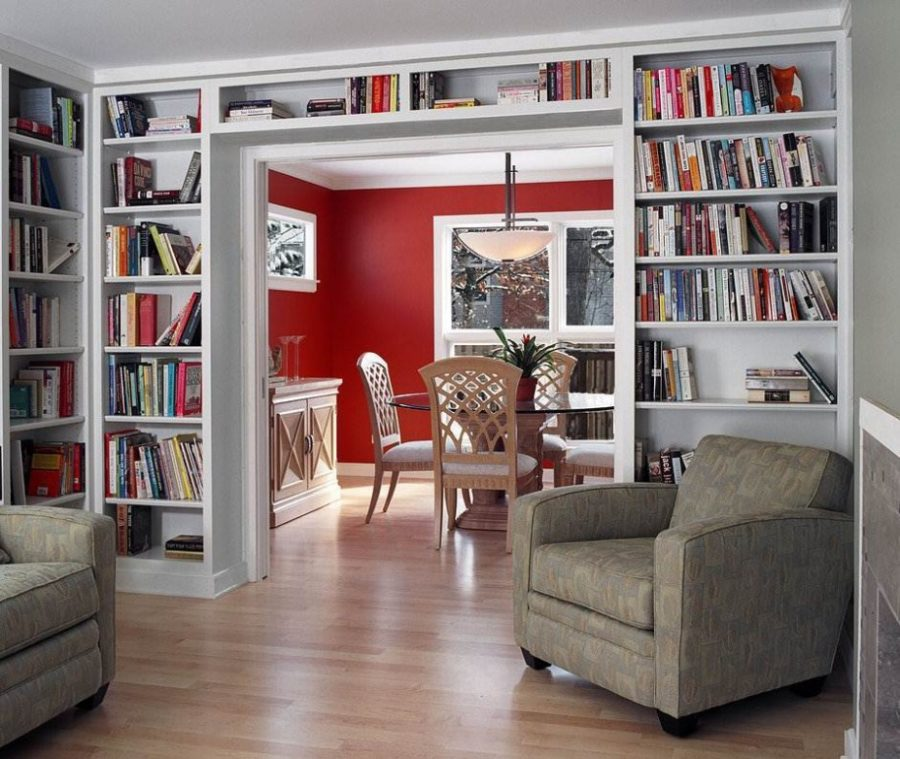 View In Gallery Small Home Library Design