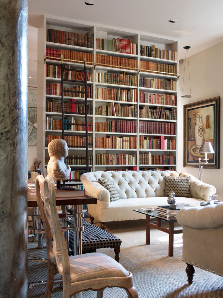 Living Room Library Design Ideas: These 38 Home Libraries Will Have You Feeling Just Like Belle