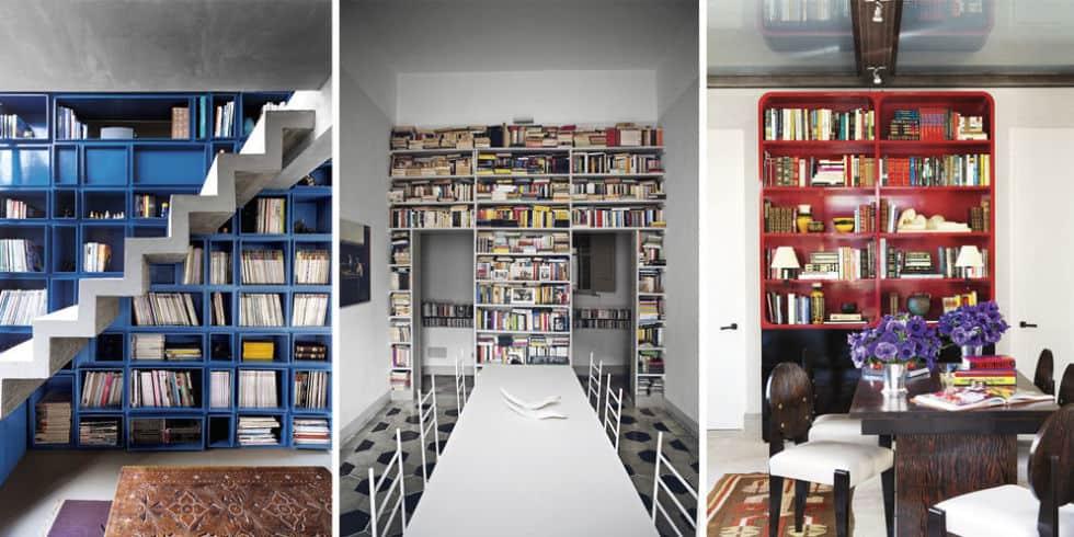 Trendy Unique Home Libraries