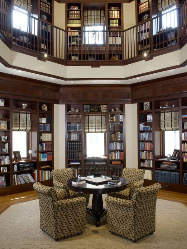 Two-Level Home Library