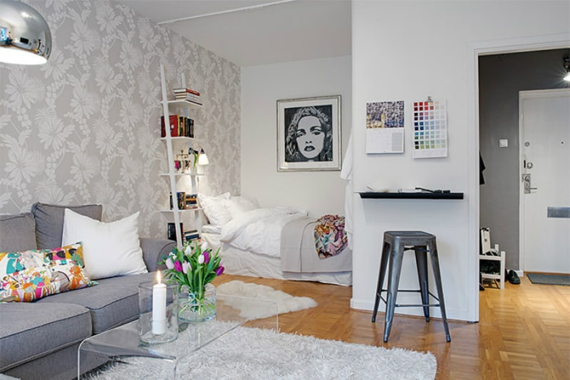 38 sq m apartment in Scandinavian style
