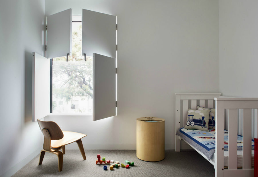 Alexander & CO minimalist kid's room shutters