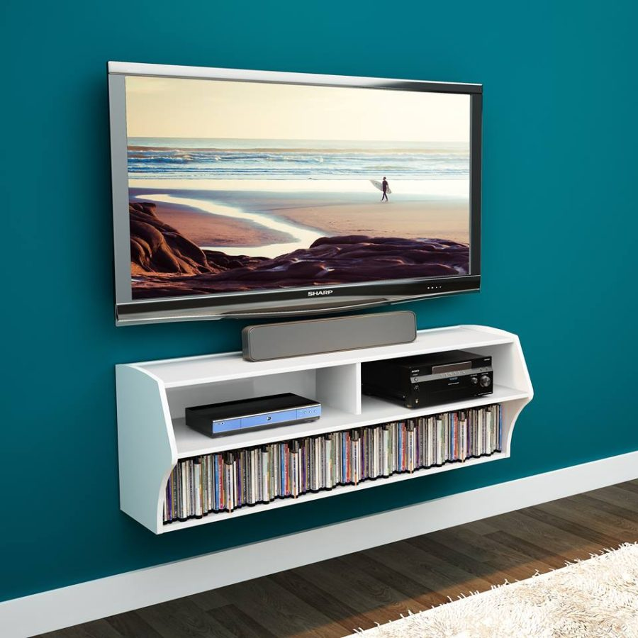 view in gallery altus wall mounted entertainment center by prepac.  floating media center designs for clutterfree living room