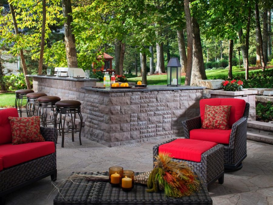 Arbel BelairWall outdoor wet bar
