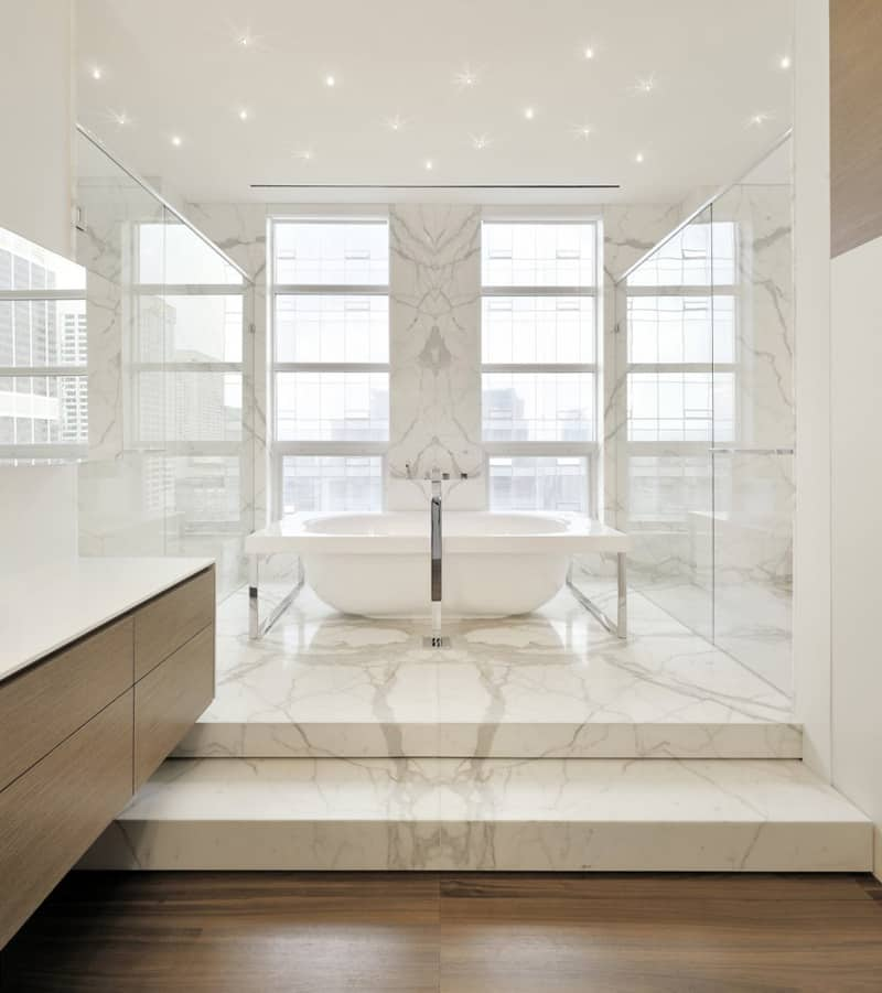 Bathroom in Toronto penthouse