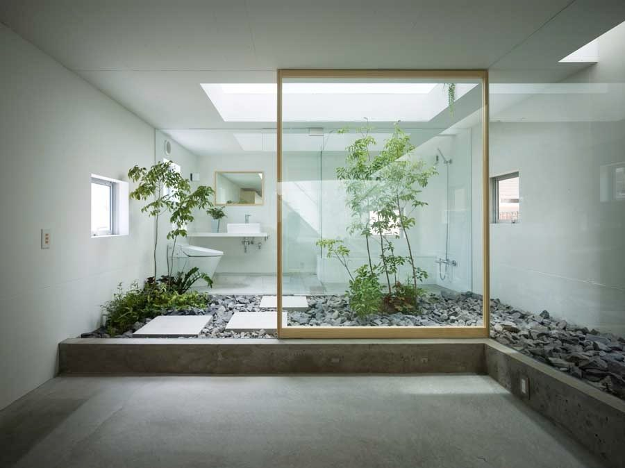 Bathroom interior garden
