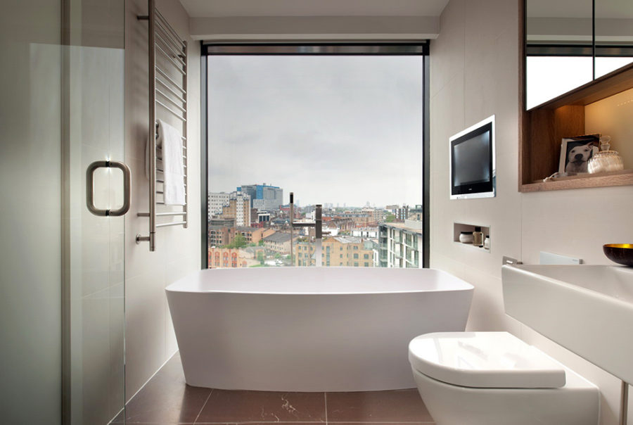 Bathroom views in London penthouse
