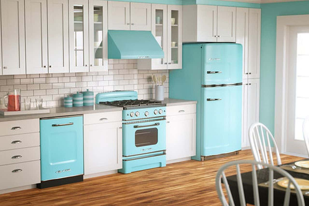 Beach Blue Applianced Kitchen