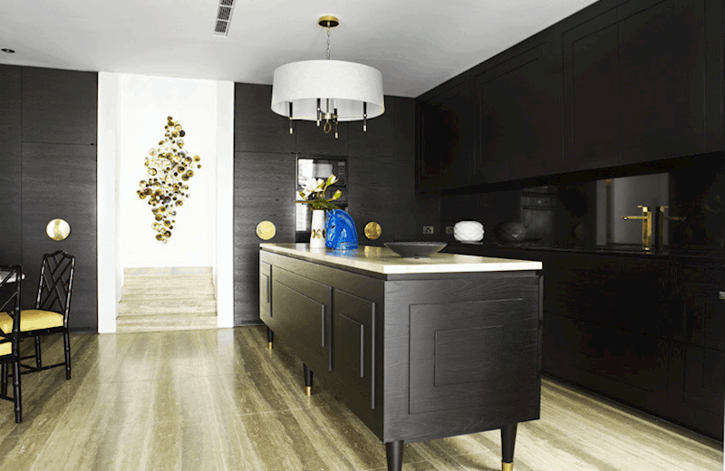 View In Gallery Black Kitchen Cabinets