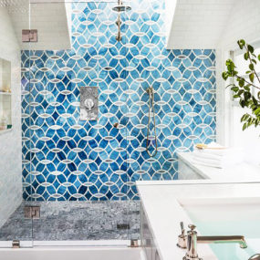 Blue shower tiles 285x285 Shower Tile Designs for Each and Every Taste