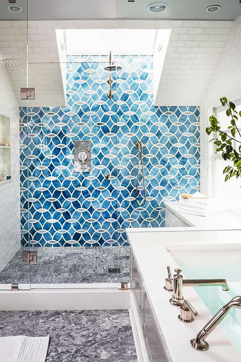Shower tile designs for each and every taste for Bathroom interior tiles design