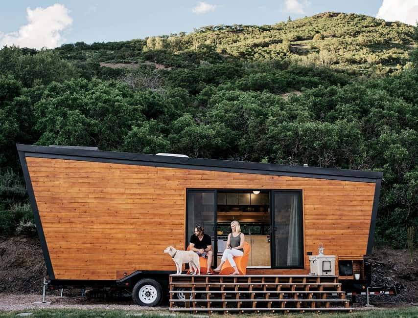 View In Gallery Brian And Joni Buzarde Diy Cabin On Wheels