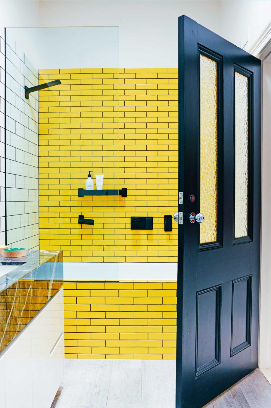 Bright yellow tiles