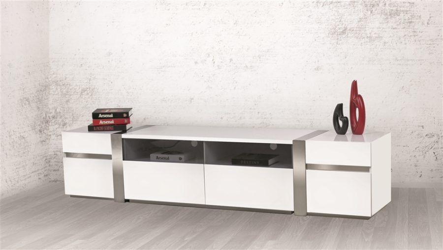 CRISTALLINO Collection Entertainment Center by Casabianca Home