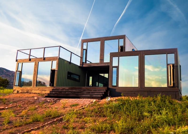 40 modern shipping container homes for every budget for Modern container home designs
