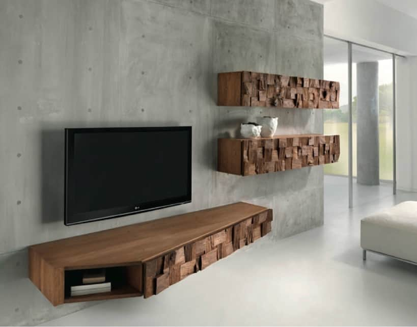 21 floating media center designs for clutter free living room for Domus design center