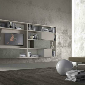 carefully chosen floating media center is not only about style though its functionality should correspond with your needs if you have a lot of things in - Media Center With Bookshelves