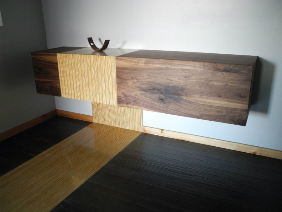 View In Gallery Custom Built Floating Cabinet By Trevor Hurow