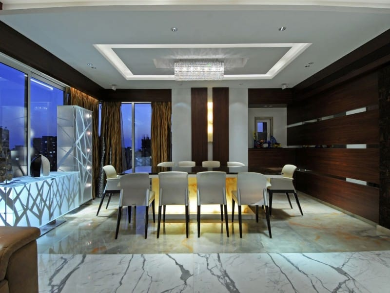 Dining room in Mumbai penthouse