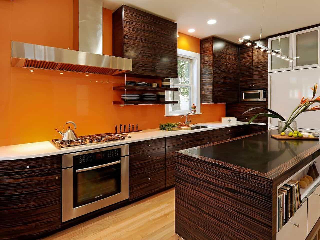Ebony and Pumpkin Kitchen