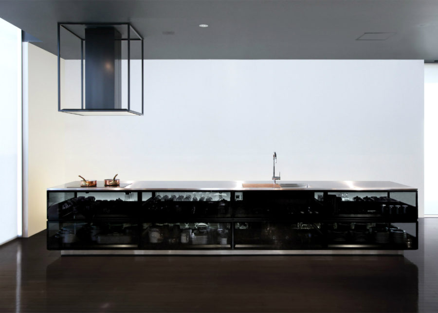 FINESSE glass kitchen by Tokujin Yoshioka