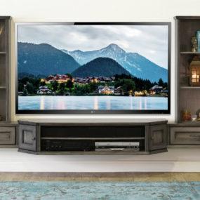 21 Floating Media Center Designs For Clutter Free Living Room