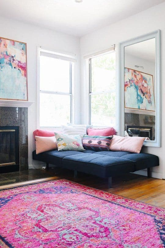 Funky Pink Living Room