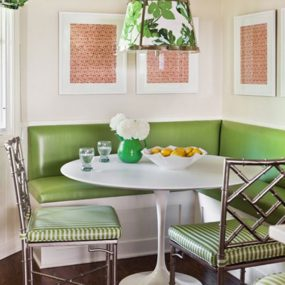 Green Breakfast Room 285x285 Breakfast Room Ideas Will Recharge Your Mornings At Home!