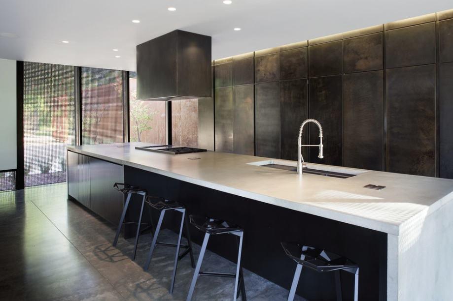Gun metal steel kitchen