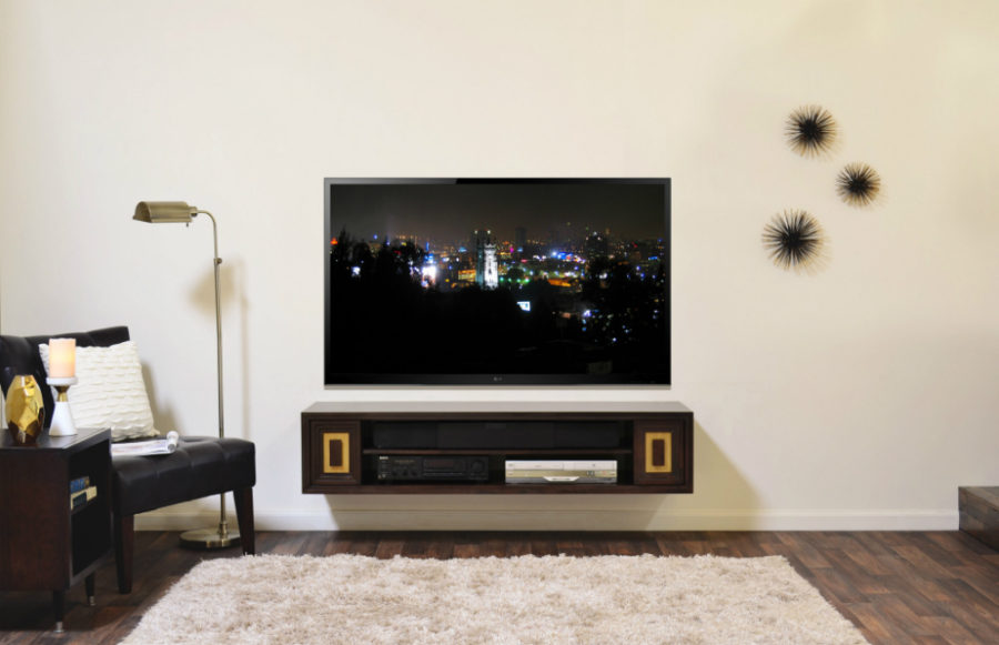 View in gallery Hollywood Floating TV Stand. 21 Floating Media Center Designs for Clutter Free Living Room