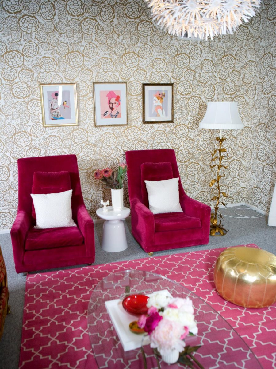 View In Gallery Hot Pink And Gold Room