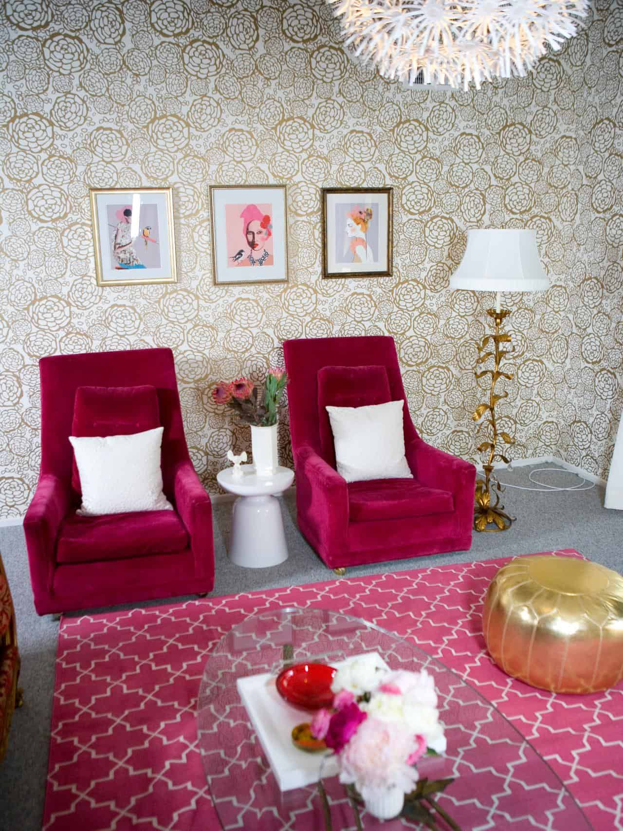 Hot Pink and Gold Room