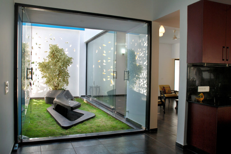 Interior Courtyard Ideas. View In Gallery House In Bangalore By Cadence