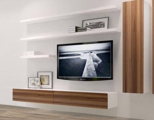 21 Floating Media Center Designs for Clutter-Free Living Room