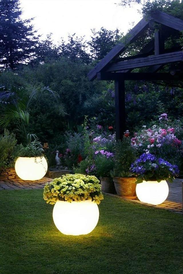 Illuminated Flower Planters