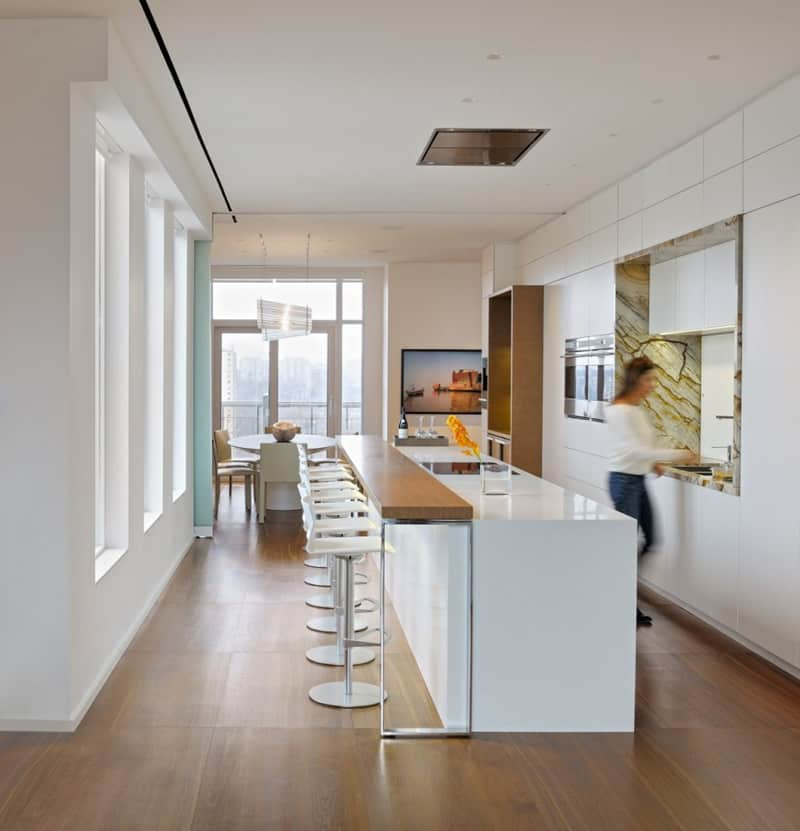 Kitchen in Toronto penthouse