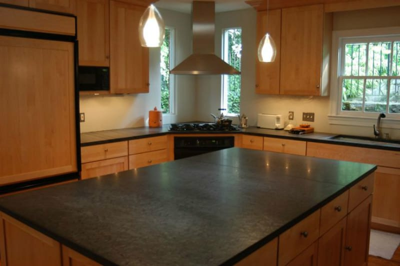 View in gallery Lace slate countertop