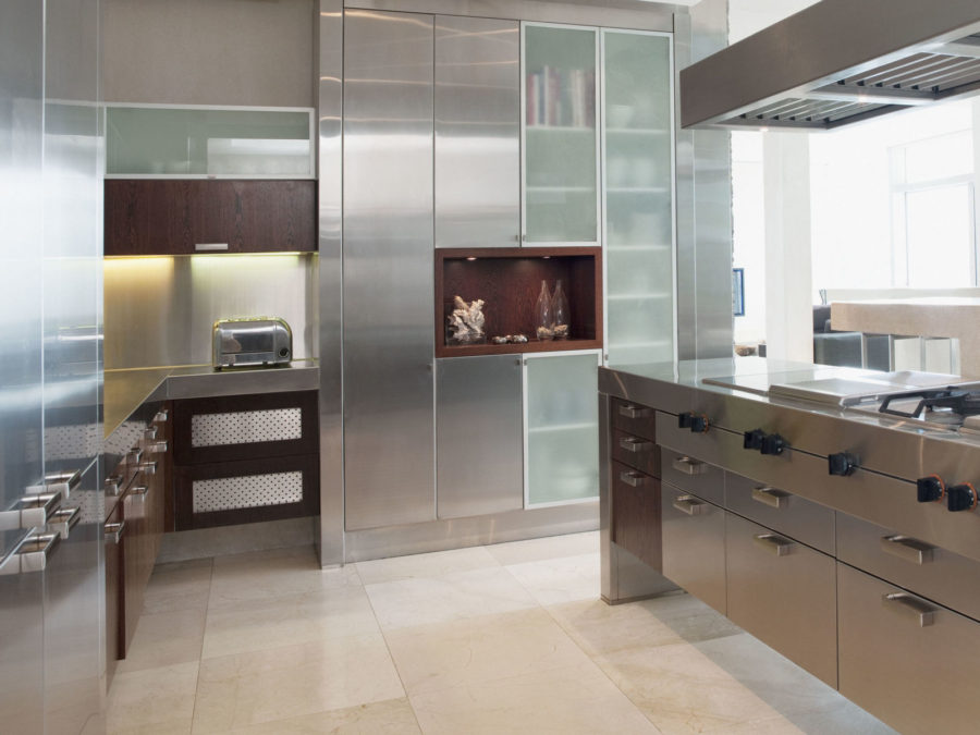 View In Gallery Metal Kitchen Cabinets