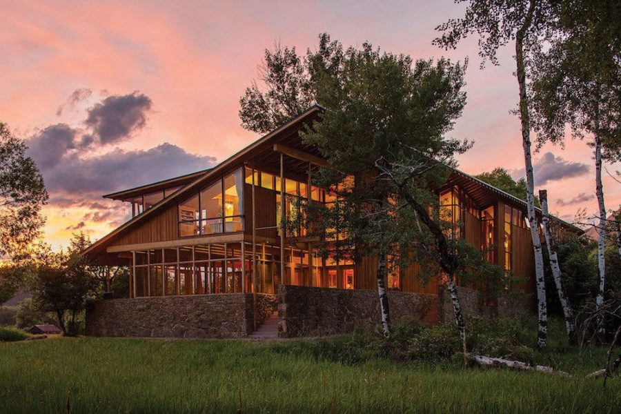 Modern Montana mansion