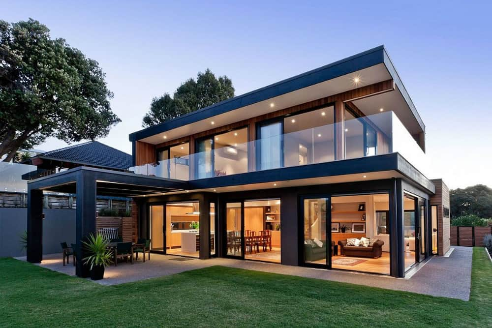 Modern new zealand house by creative arch opens up to sea for Best windows for new house