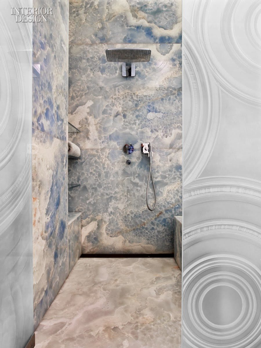 Onyx shower tile